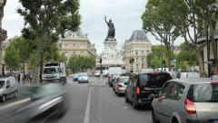 Place de la Republique, Paris Stock Footage