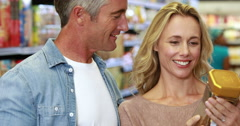 Happy couple shopping - stock footage