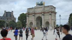 Stock Video Footage of Arc du Carrousel, Paris