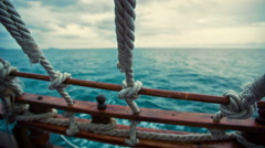 View From the Pirate Ship at Sea - stock footage