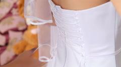 Dresses wedding dress Stock Footage