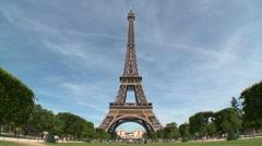 Eiffel Tower Wide Shot 1 - stock footage