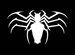 Spider. White Spider. Stylized White Spider - stock illustration