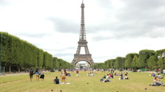 Eiffel Tower hyperlapse - stock footage