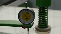Dial of a Tool, Face of a Tool, Lab Equipment, Running Machine, Machine close Stock Footage