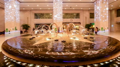 The fountain and decoration of global trade center in Beijing,China. Stock Footage