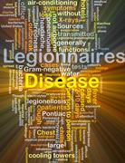 Legionnaires' disease background concept glowing Stock Illustration
