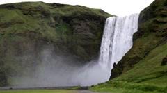 Skógafoss waterfall Stock Footage