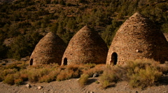 Death Valley Charcoal Kiln 03 Day Stock Footage