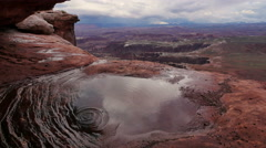 Canyonlands National Park Islands In The Sky Epic View From Watery Cave Stock Footage