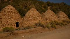 Death Valley Charcoal Kiln 04 Day Stock Footage