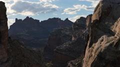 Black Dragon Canyon San Rafael Reef Utah Epic Desert Desert Sunset Locked Lower Stock Footage