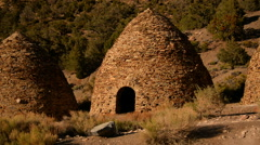 Death Valley Charcoal Kiln 05 Day Stock Footage