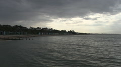 Stormy Sky by The Solent Coastline in Hampshire Stock Footage
