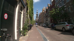 Amsterdam Westerker from Rozengracht 3 Stock Footage
