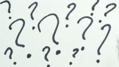 4K Question Marks Drawing Stock Footage