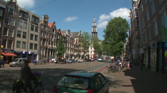 Amsterdam Westerker from Rozengracht 2 Stock Footage