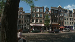 Amsterdam Westerker from Rozengracht 1 Stock Footage