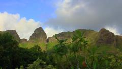 Anahola Mountains Timelapse - Kauai, HI Stock Footage