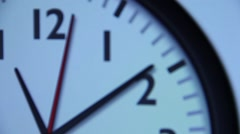 Second hand analog clock Stock Footage