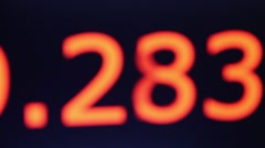 Orange numbers timer on a black background Stock Footage
