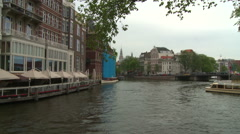 Westerkerk Tower and Netherlands Flag 4 Stock Footage