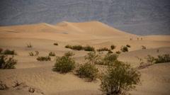 Death Valley Sand Dunes 02 Mesquite Flat Dunes Desert Stock Footage