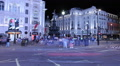 Piccadilly Circus at night Footage