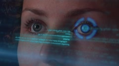 Working on Futuristic Hologramic Interface. SkiFi Digital Hud Stock Footage