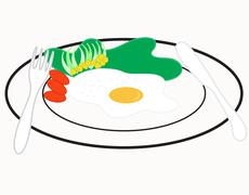 Breakfast omelet Stock Illustration