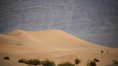 Death Valley Sand Dunes 03 Mesquite Flat Dunes Desert Stock Footage