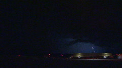 Frequent lightning flashes as Tornado warned storm passes St Jacobs Ontario Stock Footage