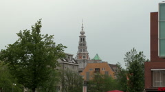 Amsterdam Zuiderkerk Tower 1 Stock Footage