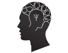 psychiatry symbol - stock illustration