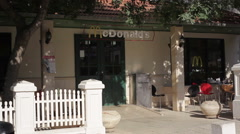 Mcdonalds in Zikhron Ya'akov, Israel Stock Footage