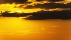 Beautiful sky in  sunset with red clouds. Time lapse  without birds 4K 3840x216 Stock Footage