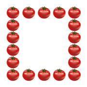 Red big fresh tomato Stock Illustration