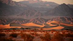 Death Valley Sand Dunes Time Lapse 01 Mesquite Flat Dunes Desert Stock Footage