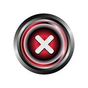 Stock Illustration of Decline deny reject icon button
