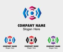 Stock Illustration of Luxury creative concept technology sign symbol design template for Business