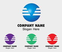 Sphere technology symbol template. engineering concept hi-tech sign - stock illustration