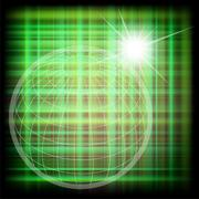 Vector world grid globe background - stock illustration