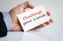 Challenge your limits Text Concept Stock Photos