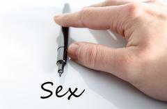 Sex Text Concept Stock Photos