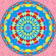 Mandala circle Stock Illustration