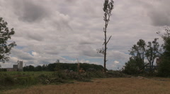 Teviodale Ontario EF-2 Tornado damage and destruction scene August 2 2015 Stock Footage