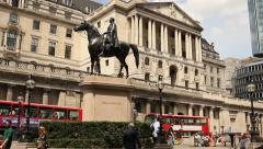 Bank of England, London - stock footage