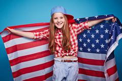 Pretty patriot - stock photo