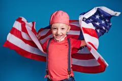 Youthful patriot - stock photo