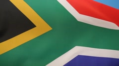 National Flag of South Africa flying in the wind Stock Footage